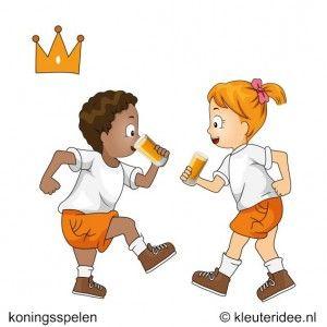 Oranje limonade drinken, koningsspelen voor kleuters, kleuteridee.nl ,7 .