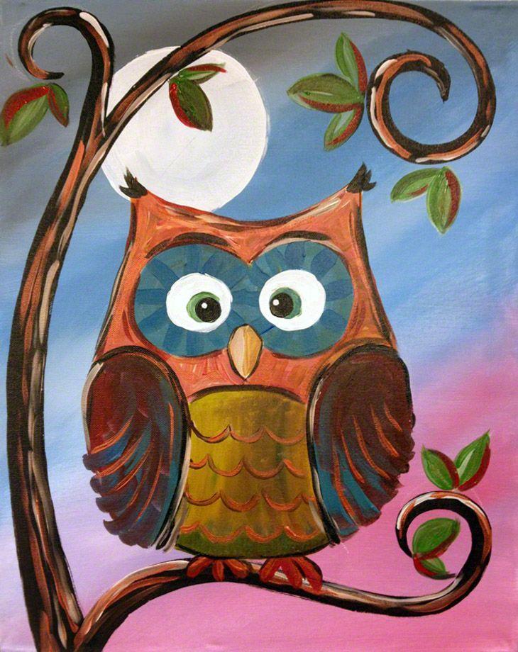 Google Image Result for https://www.rezclick.com/artsyu ...Simple Owl Painting