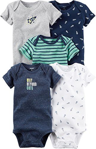 Baby Boy Clothes Carter's Baby Boys Multi-Pk Bodysuits 126g551, Navy, 3 Months Baby