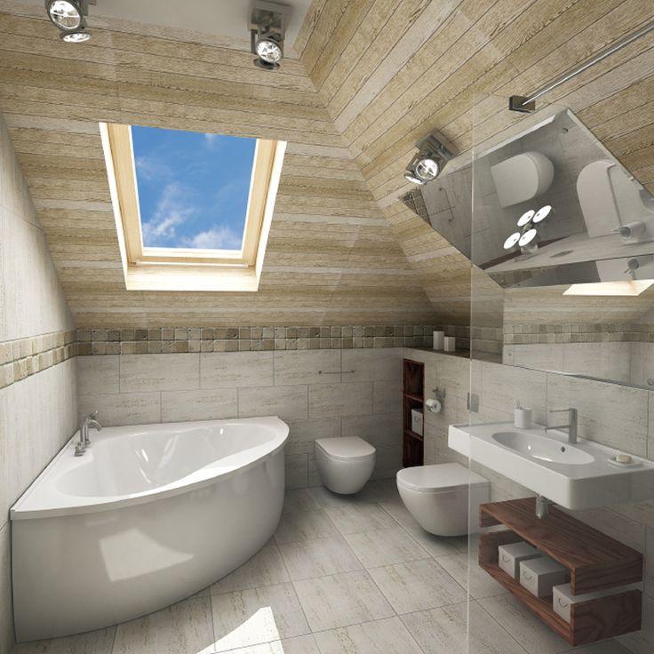Die besten 25+ Bad mit dachschräge Ideen auf Pinterest Badideen - badezimmer einbau