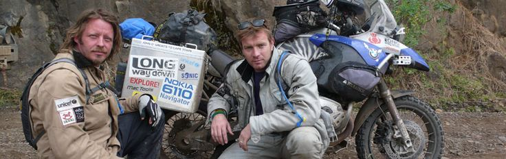 Official website documenting Ewan McGregor and Charley Boorman's epic Long Way Round overland journey via Asia and Africa, visiting Unicef projects on BMW motorbikes