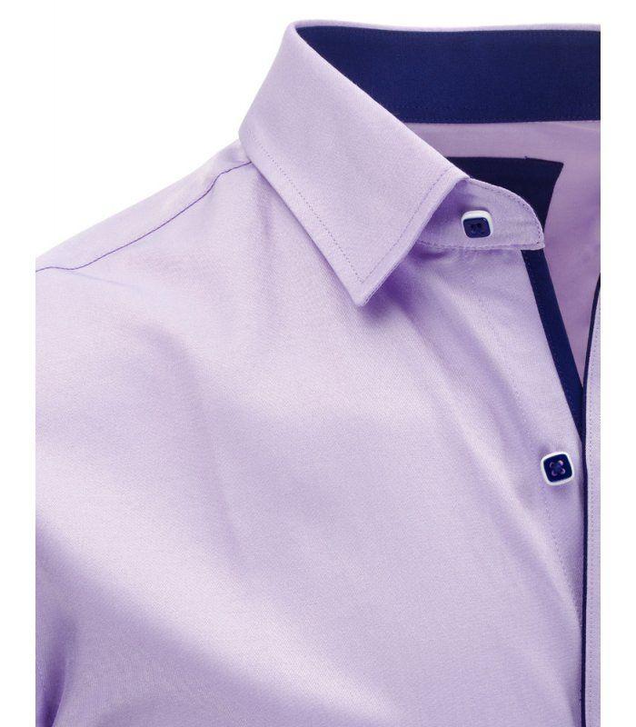 Pánska liliová elegantná košela s krátkym rukávom