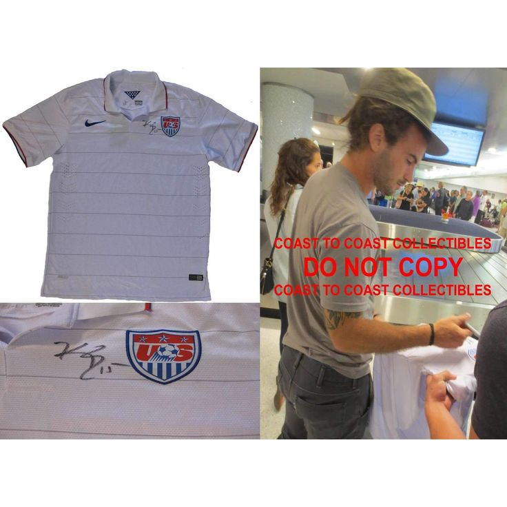 Kyle Beckerman USA Mens Soccer Team, FIFA World Cup, Signed, Autographed, USA Jersey, a COA with the Proof Photo of Kyle Signing Will Be Included