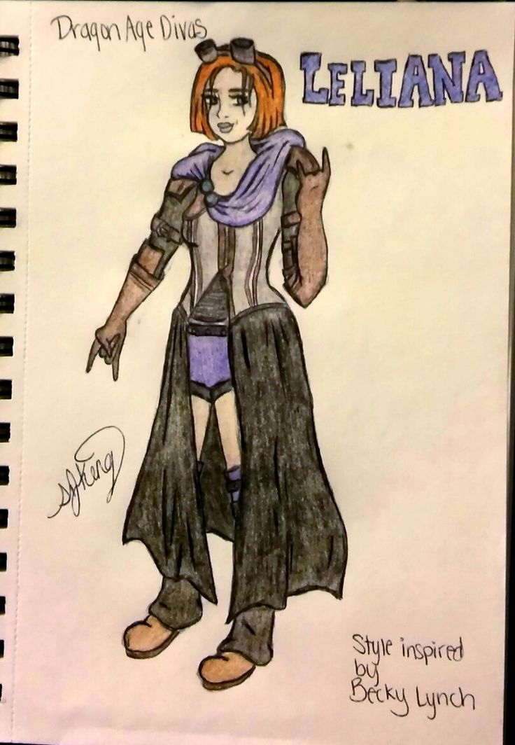 I love Dragon Age & wrestling so why not? Leluana. Style inspired by Becky Lynch. #DAO #DragonAgeInquisition #DragonAge #Leliana #BeckyLynch #wrestling