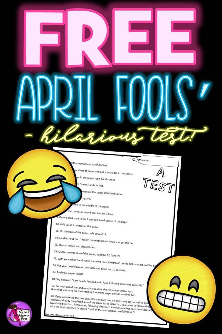 """Do you ever get frustrated with your students not reading questions carefully or not following written instructions correctly? Well give them a lesson they'll never forget with this hilarious but effective """"test""""! You can get this for free right now by clicking the """"visit"""" button!"""