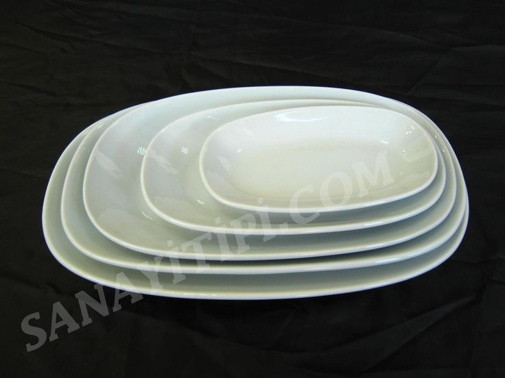 Kayık Porselen Tabaklar » - Sanayi tipi