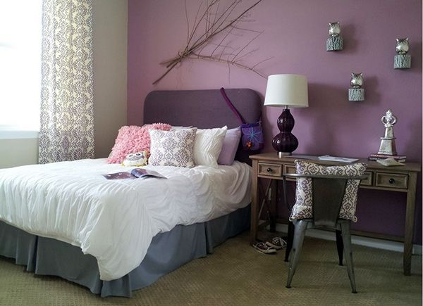 20 bedroom paint ideas for teenage girls lilac color grey and girls. Black Bedroom Furniture Sets. Home Design Ideas