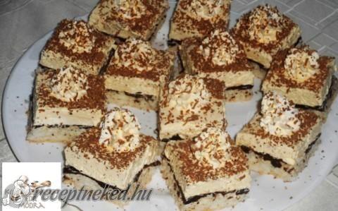 Kókuszos, vaníliás krémes sütemény recept fotóval