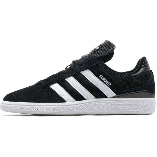 adidas Originals Busenitz (7210 RSD) ❤ liked on Polyvore featuring men's fashion, men's shoes, men's sneakers, mens leather shoes, mens black and white shoes, mens black and white sneakers, mens retro sneakers and mens shoes