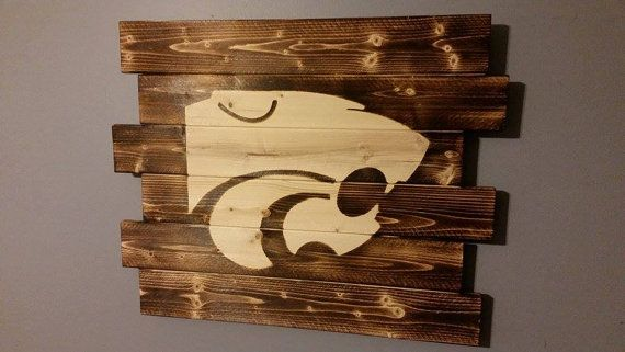 Kansas State University by CarolinaPalletDesign on Etsy