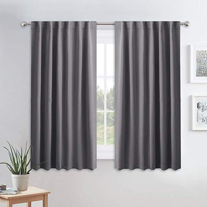 Pony Dance Blackout Window Curtains Gray Double Panels Back Tab