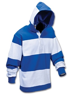 Hooded Rugby Shirt - available in custom colours and styles