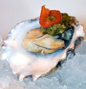 Oyster Shooters  ... mmmmmmmmm  Look at this - How would you like to make a serving tray of these? Read on...                   Serving tray...