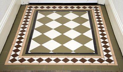 victorian floor tiles - entrance / porch