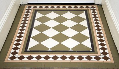 Tile flooring ideas for entrance ways victorian floor for Edwardian tiles for porch