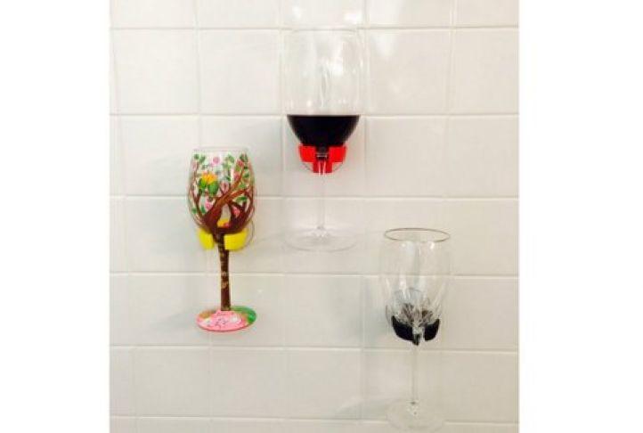 D Printed Wave Hooks Wine Glass Holder
