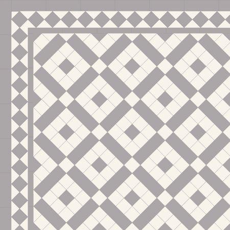 London Mosaic Victorian tile design: Colliford 50 - multi coloured monochrome, traditional victorian, floor tiles