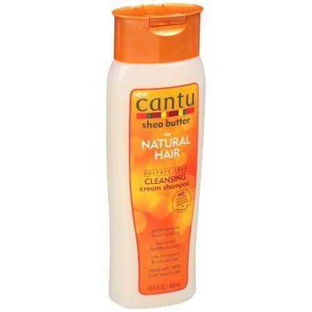 Cantu Shea Butter for Natural Hair Cleansing Cream Shampoo 13.5 fl. oz. Bottle, Beige