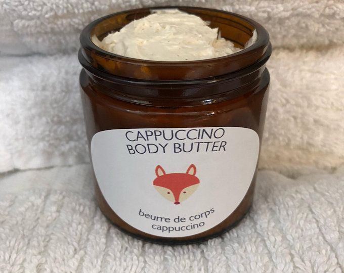 Foxy Body Natural Handmade Cappuccino Body Butter with Vanilla and Cinnamon