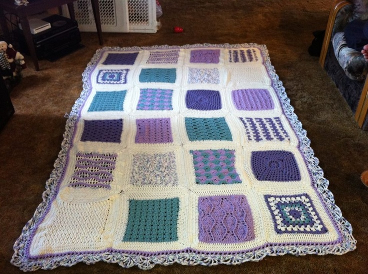 My first big crocheted blanket for Emily's room :)