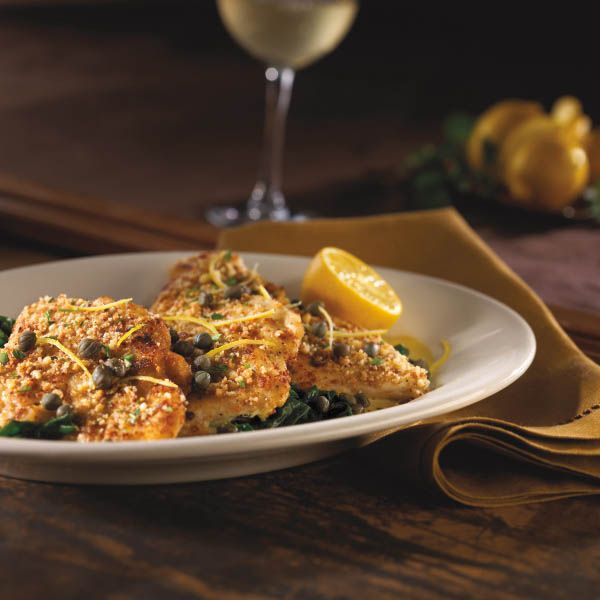 Chicken Piccata  This recipe is quick, easy and full of flavor. Serve with a side of pasta tossed in olive oil or your favorite sauteed vegetables. Accompanied by a glass of crisp, white wine for a perfect meal.