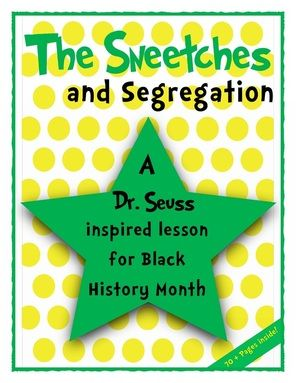 The Sneetches and Segregation: Short & Extended Response Activities - A Dr. Seuss inspired lesson for Black History Month