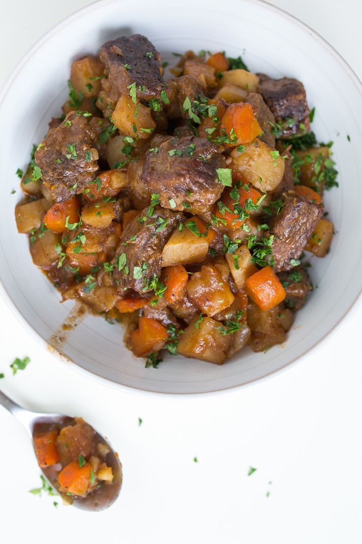 Simmer budget-friendly beef stew meats to tender, fall apart perfection using your slow cooker and this recipe.