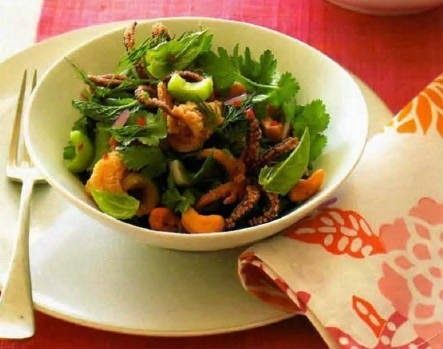 Тайны хорошей кухни.Рецепты: Китайский салат с кальмарами и осьминогами #кальмары #кулинария #морепродукты #осьминоги #рецепты #салаты