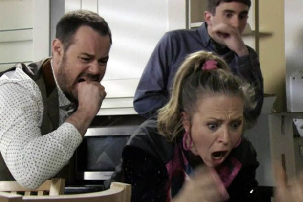 Mick Carter (Danny Dyer) and wife Linda Carter (Kellie Bright) resorted to desperate measures to keep the Queen Vic – even fishing in their pooch's stool. The EastEnders cast members' luck finally changed after they discovered a £220,000 ring. EastEnders' Halfway took the diamond sparkler from Ciara Maguire (Denise McCormack) following the ill-fated heist, and re-gifted it to Mick and Linda.
