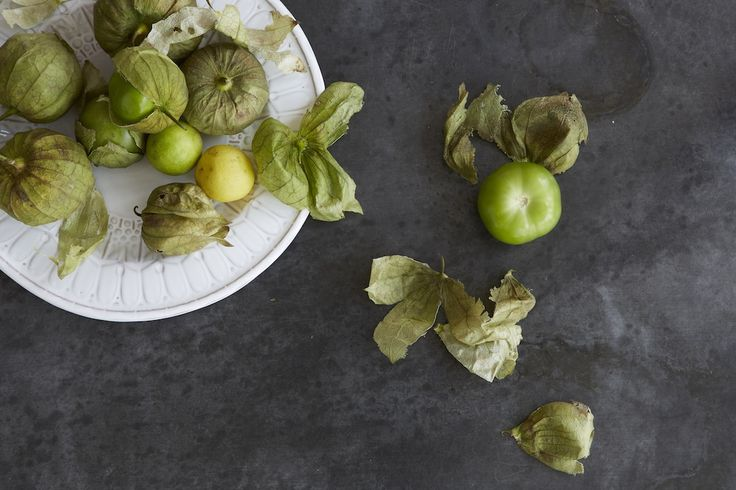tomatillos on a plate