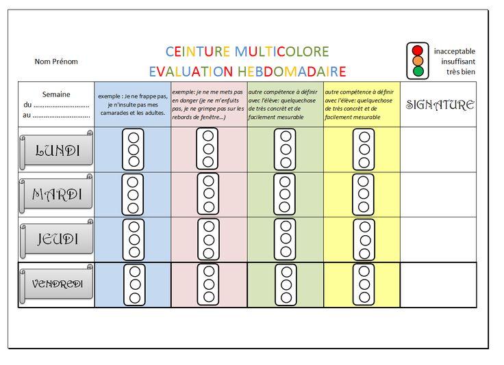 Bien-aimé Les 25 meilleures idées de la catégorie Tableau de comportement  UH52