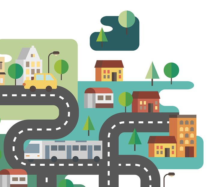 Various cities illustration