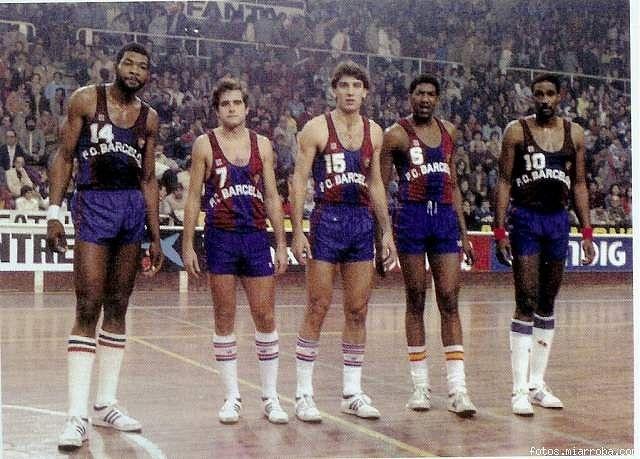 """Mike Davis, Nacho Solozábal, Juan Antonio San Epifanio """"Epi"""", Chicho Sibilio i Marcellus Starks"""