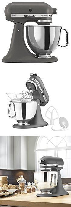 Best Cake Stand. KitchenAid KSM150PSGR Artisan Series 5-Qt. Stand Mixer with Pouring Shield - Imperial Grey.  #best #cake #stand #bestcake #cakestand