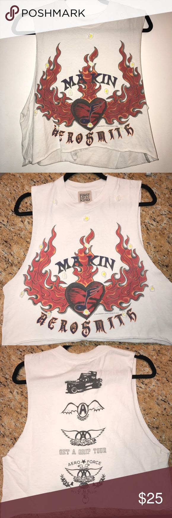 LF Aerosmith Muscle Tee In great condition! Sleeveless LF shirt LF Tops Muscle Tees