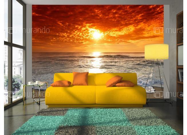 Vliesová tapeta - Západ slunce Sunset on the Beach  #wallpaper #sunset #homedecor #sea