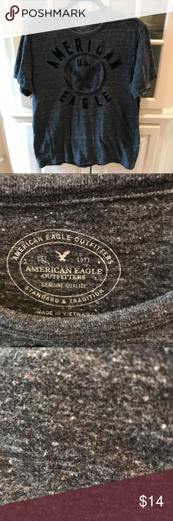 SALE😘😘American Eagles men's T shirt.  Size large Great T Shirt dark gray with some white speckled in. Athletic fit size large. Great condition American Eagle Outfitters Shirts Tees - Short Sleeve