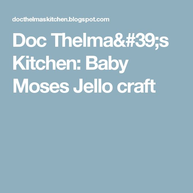 Craft For  Yr Old About Baby Moses