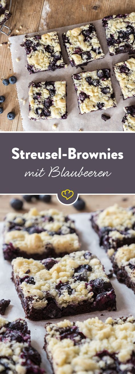 Under a crispy streuseldecke – there have chocolate and blueberries a …  – food love