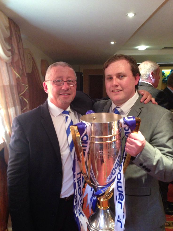 Gillingham FC Champions me the chairman and our trophy