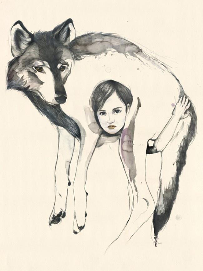 Kareena Zerefos: Wolf Girls, Children'S Art, Kareena Zerefo, Art Inspiration, Wolves, Child Art, Kareenazerefo, Wolf Children, Beautiful Illustrations