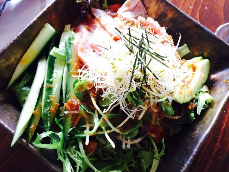 Delicious Japanese salad for lunch