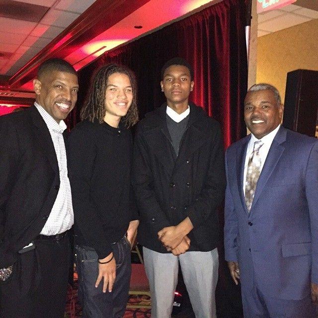 MLA Dwayne and Elijah with Mayor Johnson and Council Member Jennings.