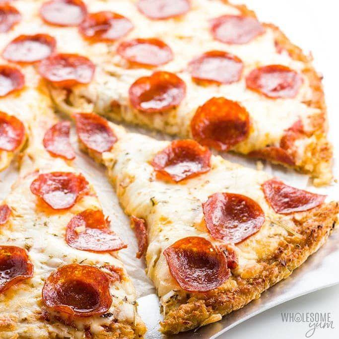 Einfache Low Carb Blumenkohl Pizza Crust Rezept – 3 Zutaten  – PIZZA