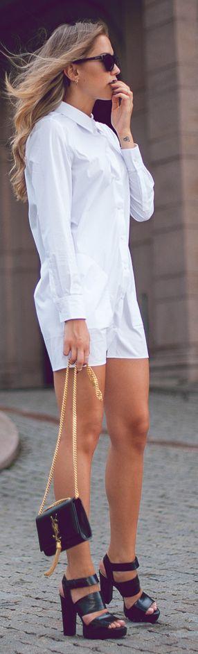 Acne White Chic Basic Shirt Dress by Kenzas