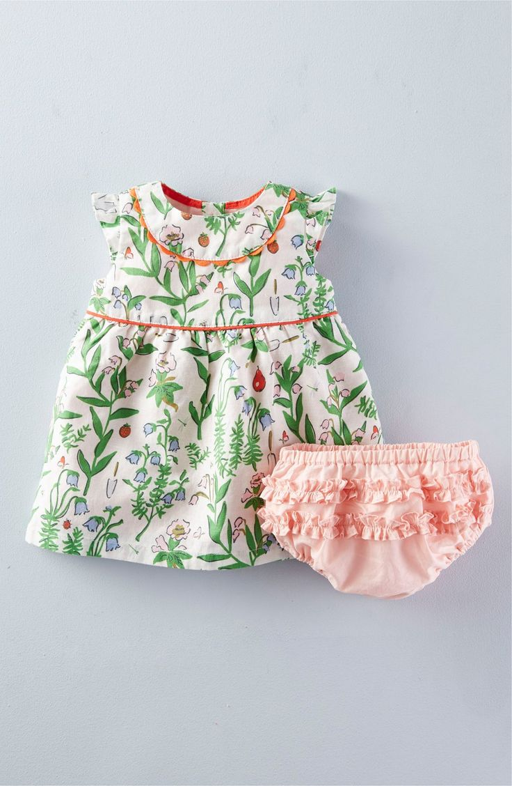 Mini Boden 'Pretty Tea' Cap Sleeve Dress (Baby Girls & Toddler Girls)
