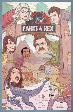 """When you type """"parks and rex"""" instead of """"parks and rec""""  Tag yourself I'm T-Rex Swanson."""