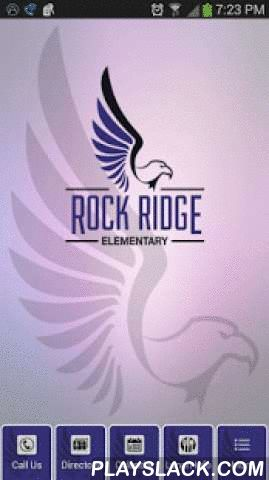 Rock Ridge Elementary  Android App - playslack.com ,  Get the Rock Ridge Elementary School mobile app today! Rock Ridge Elementary School is a public school, grades Pre K-6, located in Castle Rock, CO and is part of the Douglas County School District. Whether you are a parent or faculty member you will find helpful information in the Rock Ridge app. Here are just a few of the helpful features in the Rock Ridge Elementary School mobile app:- Staff directory with contact information.- Click to…