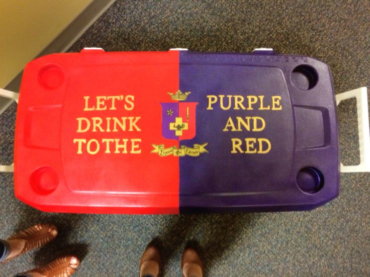 SigEp sigma phi epsilon cooler crest to the purple and red