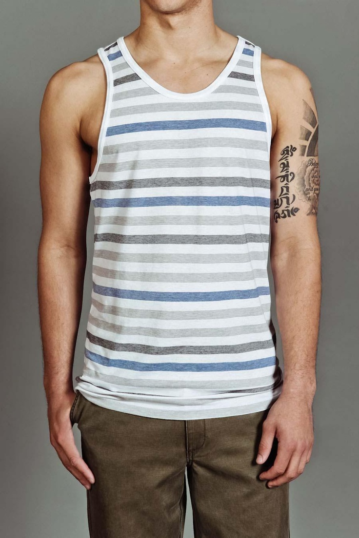 Stripe tank top: Men'S Tees, Relaxing Fashion, Man Styles, Tank Tops, Tanks Tops, Casual Male, Stripes Tanks, Men'S Sportswear, Marvellous Male Fashion